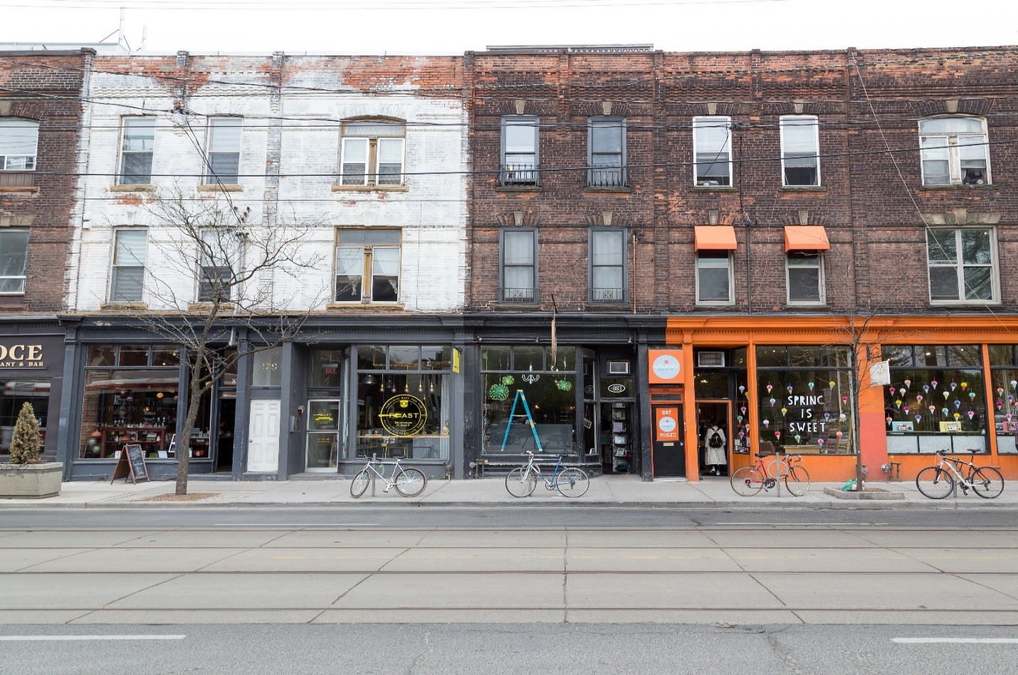 Storefronts in Toronto